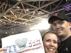 Wade attended Cole Swindell and Dustin Lynch: Reason to Drink Another Tour - Country on Dec 1st 2018 via VetTix