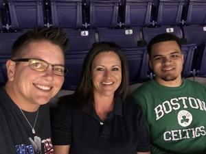 Yvonne attended Phoenix Suns vs. Boston Celtics - NBA on Nov 8th 2018 via VetTix
