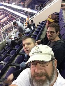 James attended Phoenix Suns vs. San Antonio Spurs - NBA on Nov 14th 2018 via VetTix