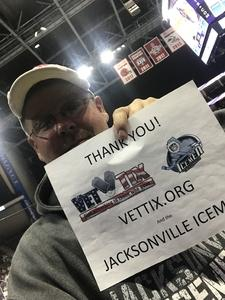 SOCS (RET) attended Jacksonville Icemen vs. Orlando Solar Bears - ECHL on Dec 12th 2018 via VetTix