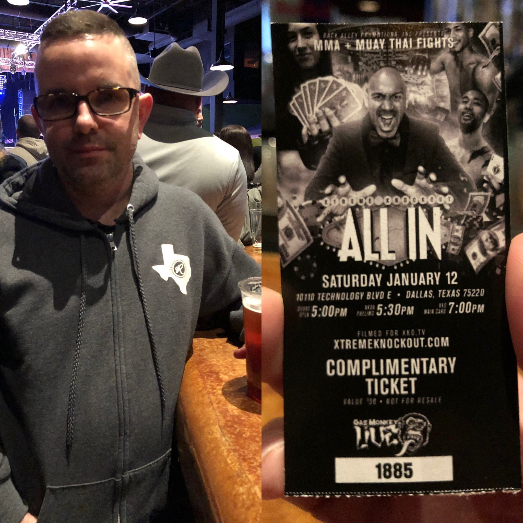 Stephen attended Xtreme Knockout Presents - All in at Gas Monkey Live! - General Admission - Live Mixed Martial Arts on Jan 12th 2019 via VetTix