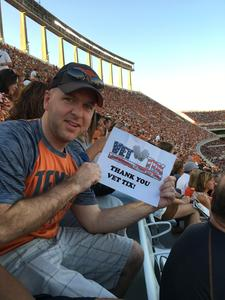 Otto attended Texas Longhorns vs. Iowa State - NCAA Football on Nov 17th 2018 via VetTix