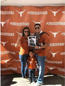James attended Texas Longhorns vs. Iowa State - NCAA Football on Nov 17th 2018 via VetTix