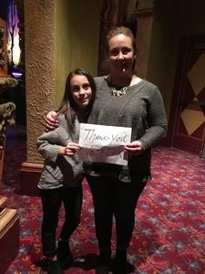 Jason and Stephanie attended Noel - the Musical (touring) - Musical on Dec 9th 2018 via VetTix