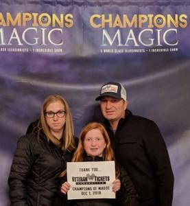 Chris attended Champions of Magic - Saturday on Dec 1st 2018 via VetTix