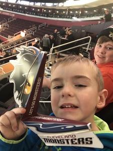 Brandon attended Cleveland Monsters vs. Syracuse Crunch - AHL on Dec 1st 2018 via VetTix