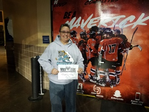 Theresa attended Kansas City Mavericks - Minor League on Dec 1st 2018 via VetTix