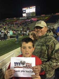 Anthony attended 2018 Dollar General Bowl - Sun Belt Conference vs. Mid-american Conference on Dec 22nd 2018 via VetTix