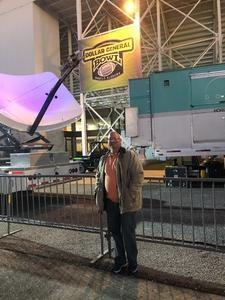 Joe attended 2018 Dollar General Bowl - Sun Belt Conference vs. Mid-american Conference on Dec 22nd 2018 via VetTix