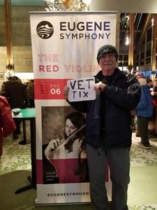 Click To Read More Feedback from The Red Violin - Presented by the Eugene Symphony