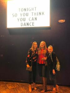 James attended So You Think You Can Dance Live! 2018 - Pop on Nov 23rd 2018 via VetTix