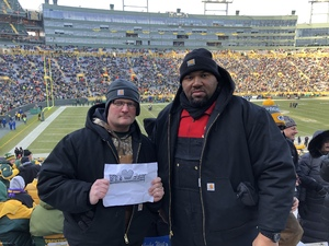 Justin attended Green Bay Packers vs. Atlanta Falcons - NFL on Dec 9th 2018 via VetTix