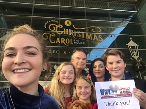 Tim attended A Christmas Carol - the Musical at 2 PM on Dec 9th 2018 via VetTix
