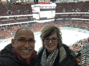 Heriberto attended Anaheim Ducks vs. Chicago Blackhawks - NHL - Antis Roofing Community Corner on Dec 5th 2018 via VetTix