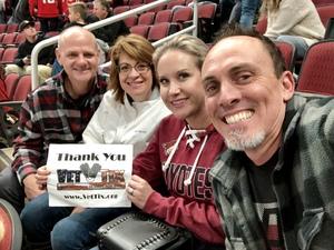 April attended Arizona Coyotes vs. Washington Capitals - NHL on Dec 6th 2018 via VetTix
