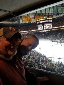 aaron attended Boston Bruins vs. Arizona Coyotes - NHL - Suite Level Tickets on Dec 11th 2018 via VetTix