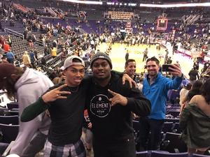 DaSean attended Phoenix Suns vs. Dallas Mavericks - NBA on Dec 13th 2018 via VetTix