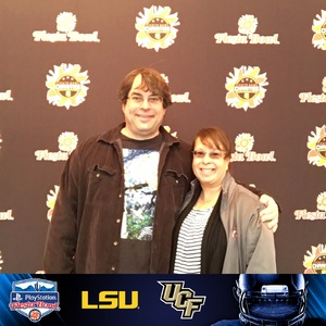 tim attended Playstation Fiesta Bowl - Louisiana State University vs. University of Central Florida on Jan 1st 2019 via VetTix