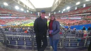Mark attended Playstation Fiesta Bowl - Louisiana State University vs. University of Central Florida on Jan 1st 2019 via VetTix
