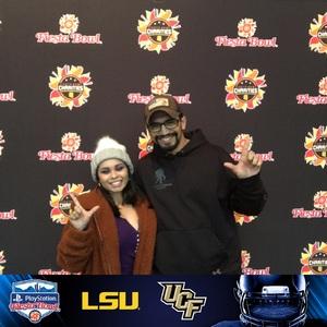 pedro attended Playstation Fiesta Bowl - Louisiana State University vs. University of Central Florida on Jan 1st 2019 via VetTix