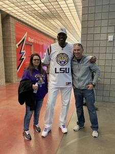 Nathaniel attended Playstation Fiesta Bowl - Louisiana State University vs. University of Central Florida on Jan 1st 2019 via VetTix