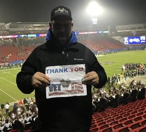 James attended Dxl Frisco Bowl - San Diego State University vs. Ohio University on Dec 19th 2018 via VetTix