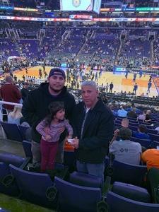 Gilbert attended Phoenix Suns vs. Minnesota Timberwolves - NBA on Dec 15th 2018 via VetTix