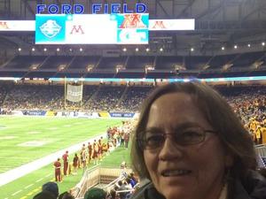 Katherine attended Quick Lane Bowl: Minnesota vs. Georgia Tech - NCAA on Dec 26th 2018 via VetTix