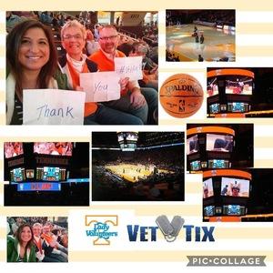 Michael attended Tennessee Lady Vols vs. Missouri Tigers - NCAA Women's Basketball on Jan 6th 2019 via VetTix