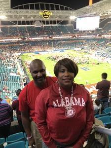 eric attended 2018 Capital One Orange Bowl - Oklahoma Sooners vs. Alabama Crimson Tide - College Football Playoffs Semifinal Game on Dec 29th 2018 via VetTix