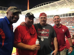 Bobby attended 2018 Capital One Orange Bowl - Oklahoma Sooners vs. Alabama Crimson Tide - College Football Playoffs Semifinal Game on Dec 29th 2018 via VetTix