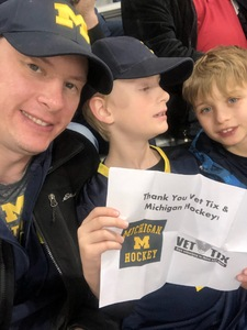 Scott attended University of Michigan Wolverines vs. Merrimack Warriors - NCAA Men's Hockey on Jan 8th 2019 via VetTix
