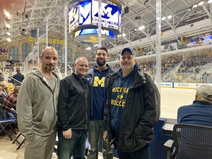 Marcus attended University of Michigan Wolverines vs. Merrimack Warriors - NCAA Men's Hockey on Jan 8th 2019 via VetTix