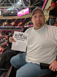 Johnathan attended Cleveland Cavaliers vs. Indiana Pacers - NBA on Jan 8th 2019 via VetTix
