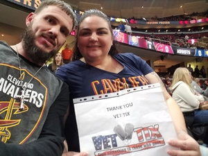 Amanda attended Cleveland Cavaliers vs. Indiana Pacers - NBA on Jan 8th 2019 via VetTix
