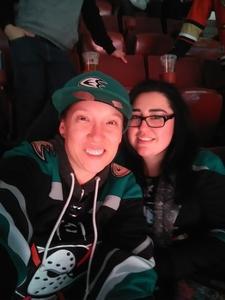 catrina attended Anaheim Ducks vs. Vegas Golden Knights - NHL - Antis Community Corner on Jan 4th 2019 via VetTix