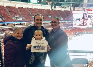 Kylie attended Anaheim Ducks vs. Vegas Golden Knights - NHL - Antis Community Corner on Jan 4th 2019 via VetTix