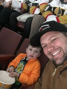 Landon attended Anaheim Ducks vs. Vegas Golden Knights - NHL - Antis Community Corner on Jan 4th 2019 via VetTix
