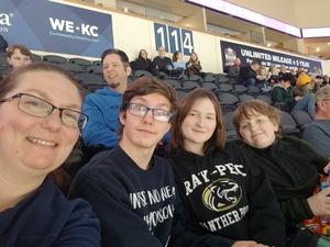 Linda attended Kansas City Mavericks - Minor League on Jan 12th 2019 via VetTix