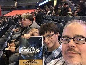 Kristopher attended PBR - WCRA Windy City Roundup - Friday Performance Only on Jan 11th 2019 via VetTix