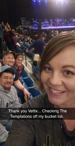 Derek attended The Temptations and the Four Tops on Jan 5th 2019 via VetTix