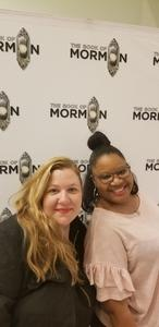 Tanya attended The Book of Mormon on Jan 8th 2019 via VetTix
