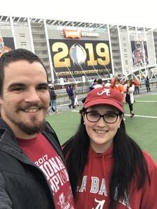 Rianna and Stephen attended 2019 CFP National Championship - Alabama Crimson Tide vs. Clemson Tigers on Jan 7th 2019 via VetTix