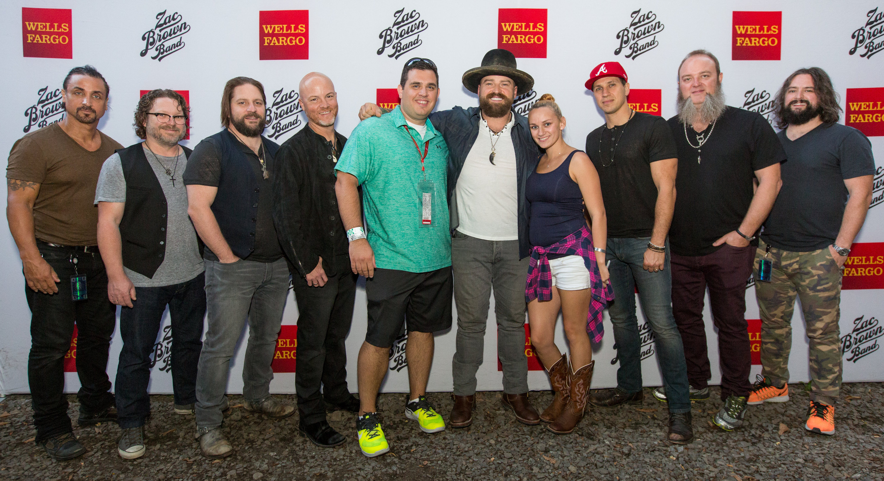 Thank you messages to veteran tickets foundation donors james attended zac brown band black out the sun tour with meet and greet opportunity kristyandbryce Images