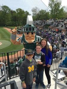 Thomas attended Michigan State Spartans vs. Michigan - NCAA Baseball on May 20th 2017 via VetTix