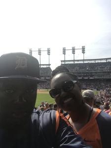 Lucien attended Detroit Tigers vs. Boston Red Sox - MLB on Apr 9th 2017 via VetTix