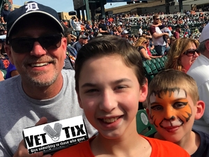 Michael attended Detroit Tigers vs. Boston Red Sox - MLB on Apr 9th 2017 via VetTix