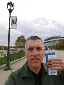 James attended Milwaukee Brewers vs. Cincinnati Reds - MLB on Apr 25th 2017 via VetTix