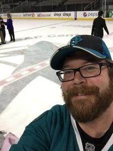 Torin attended San Jose Sharks vs. Edmonton Oilers - NHL - Post Game on Ice Photo on Apr 6th 2017 via VetTix