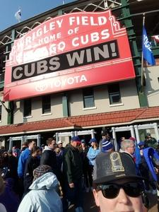Kristin attended Chicago Cubs vs. Milwaukee Brewers - MLB on Apr 18th 2017 via VetTix